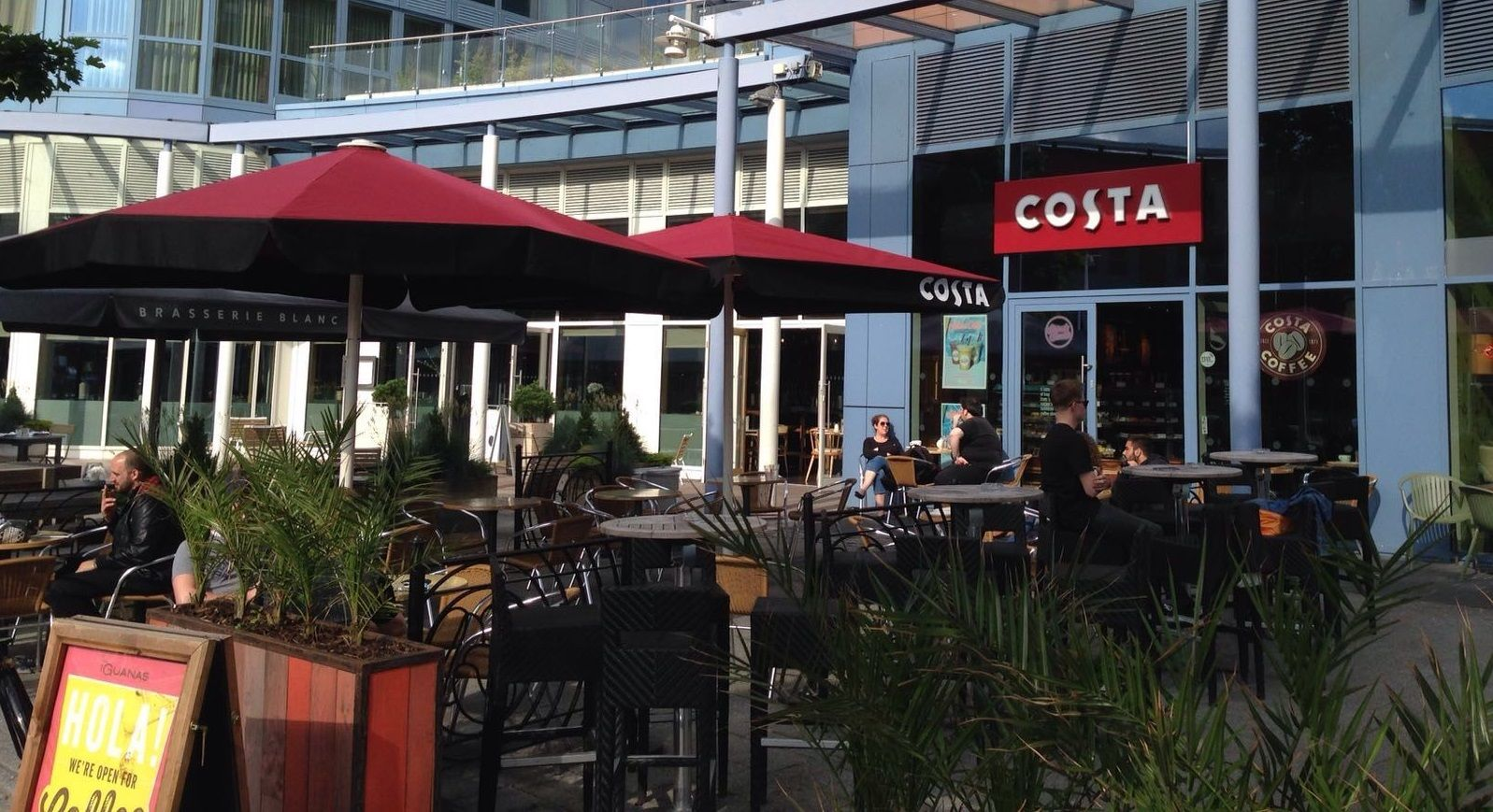 Costa Coffee Gunwharf Quays In Portsmouth Have Now Got Their 3m X 3m Atlas Design Giant Umbrellas Portsmouth Costa Coffee Umbrella