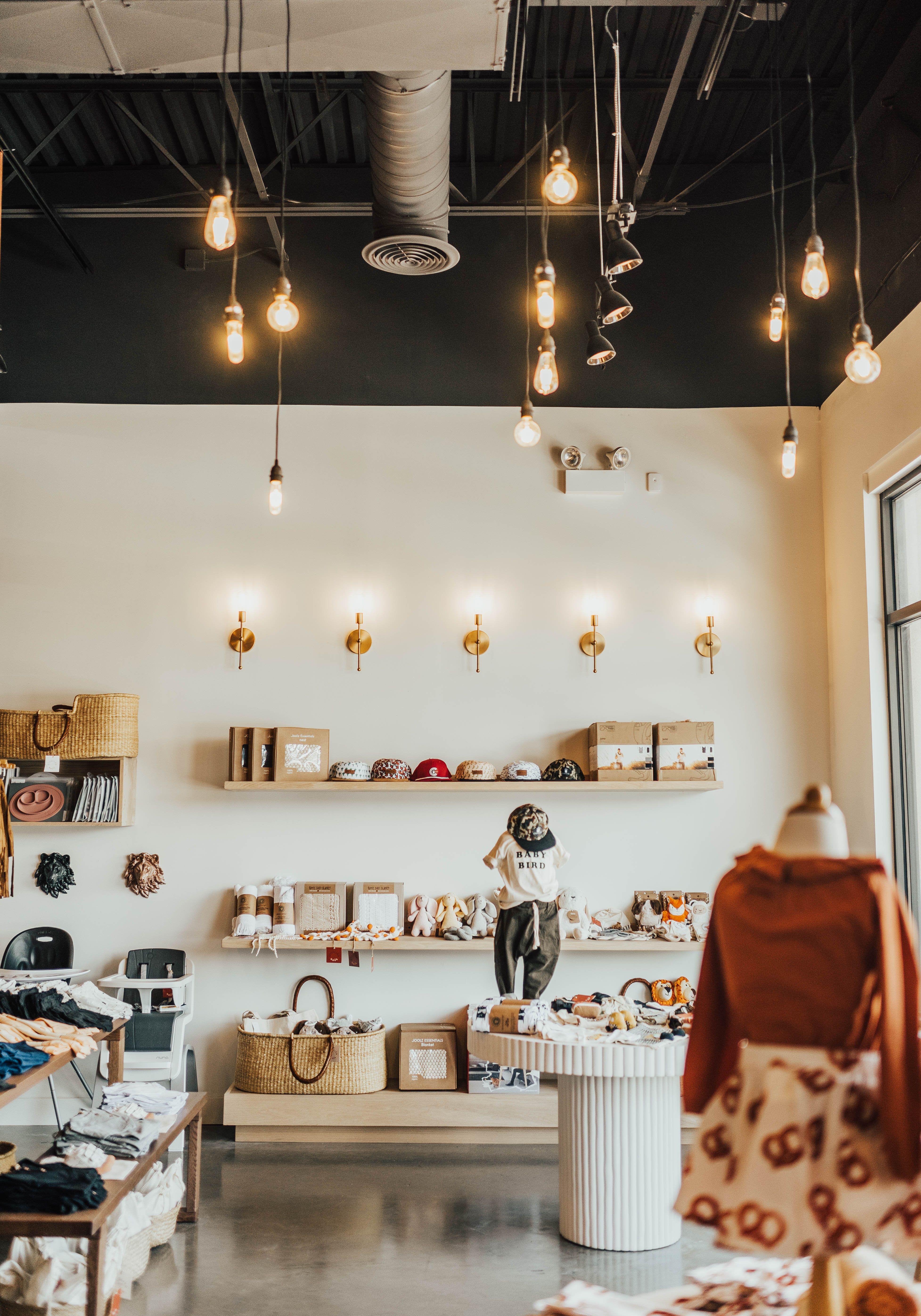 Stroller Haus Retail Store Design Retail Lighting Design Exposed Ceilings Retail Store Design Boutiques