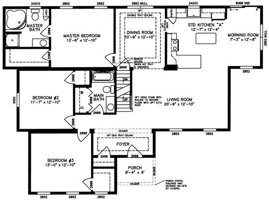 Modular-Home-Ranch-Floor-Plan-1.Jpg | Family Estate | Pinterest