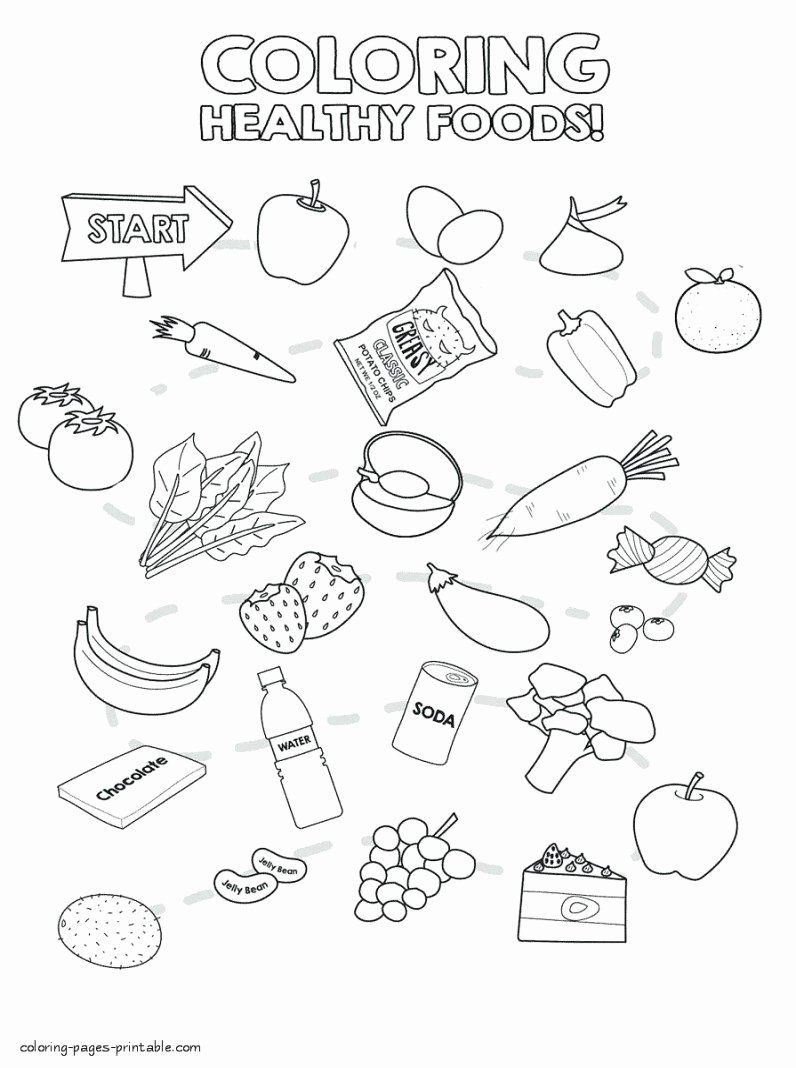 Breakfast Food Coloring Pages Luxury Junk Food Coloring Pages Junk Food Coloring Pages Best In 2020 Food Coloring Pages Healthy And Unhealthy Food Coloring Pages