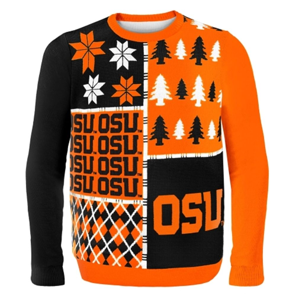 Oregon State Beavers Busy Block Ugly Sweater - Orange