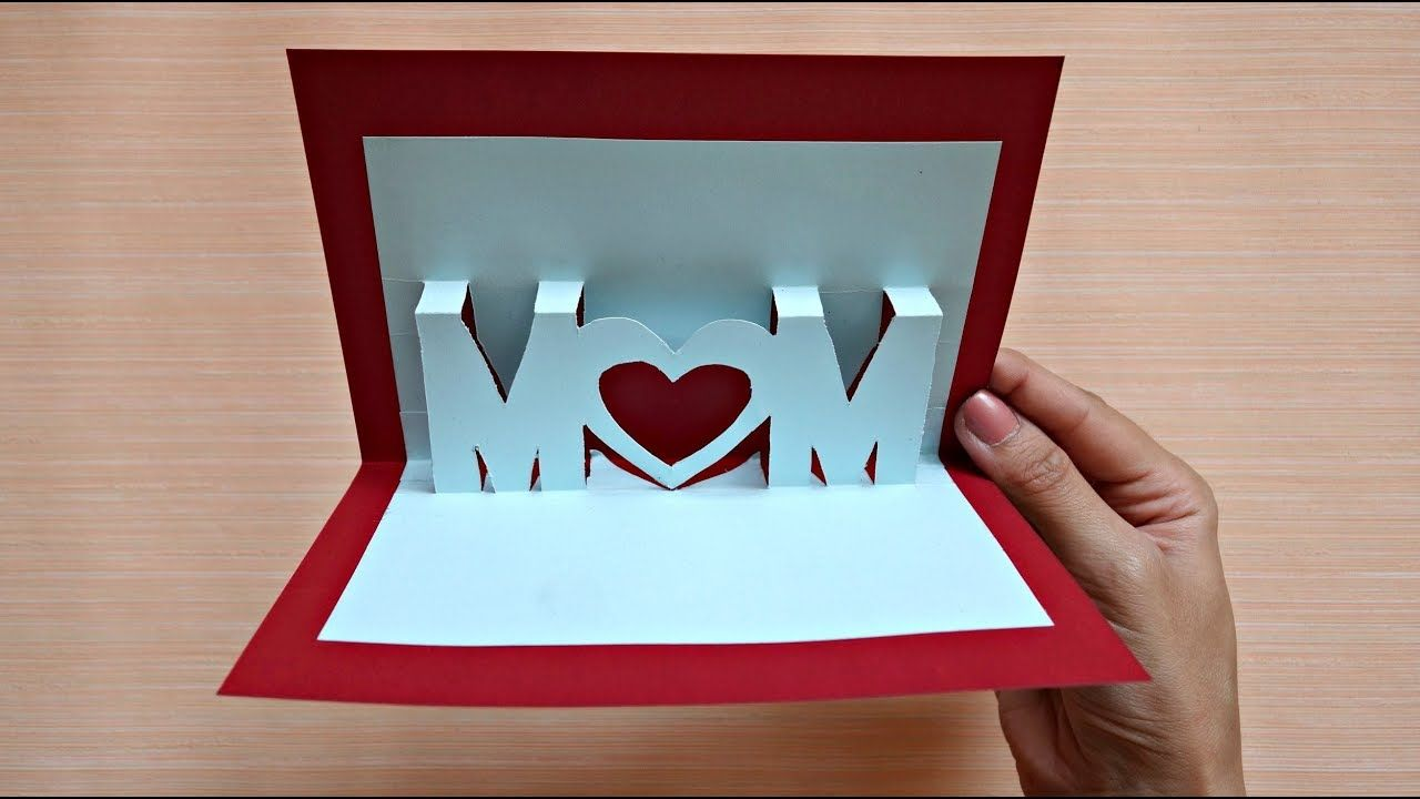 pop up card for mother's day  3d mom card  maison zizou
