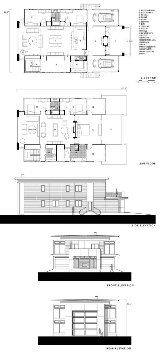 Container Home Design- too big @ 5 bd library, but cool | Container ...