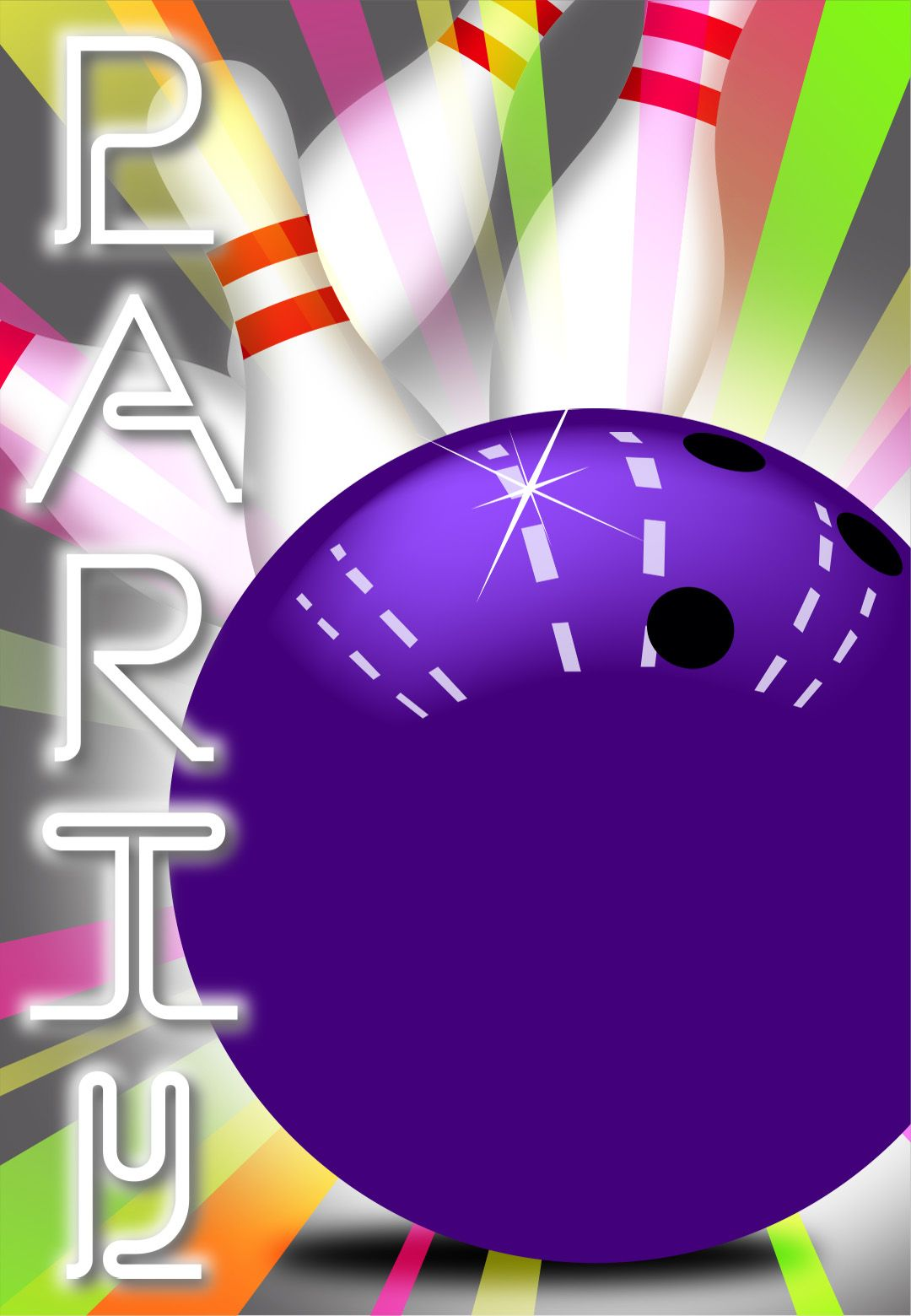 This is an image of Sweet Free Printable Bowling Party Invitations