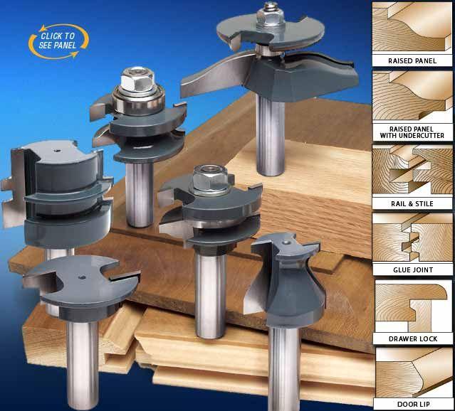 Mlcs 6 Piece Pro Cabinetmaker Router Bit Set Router Bits Woodworking Storage Router Woodworking