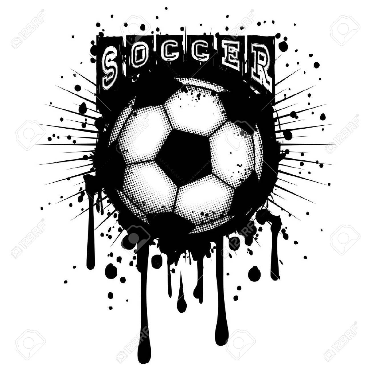 Abstract Vector Illustration Grunge Black And White Football Black And White Football Black And White Posters Illustration Design