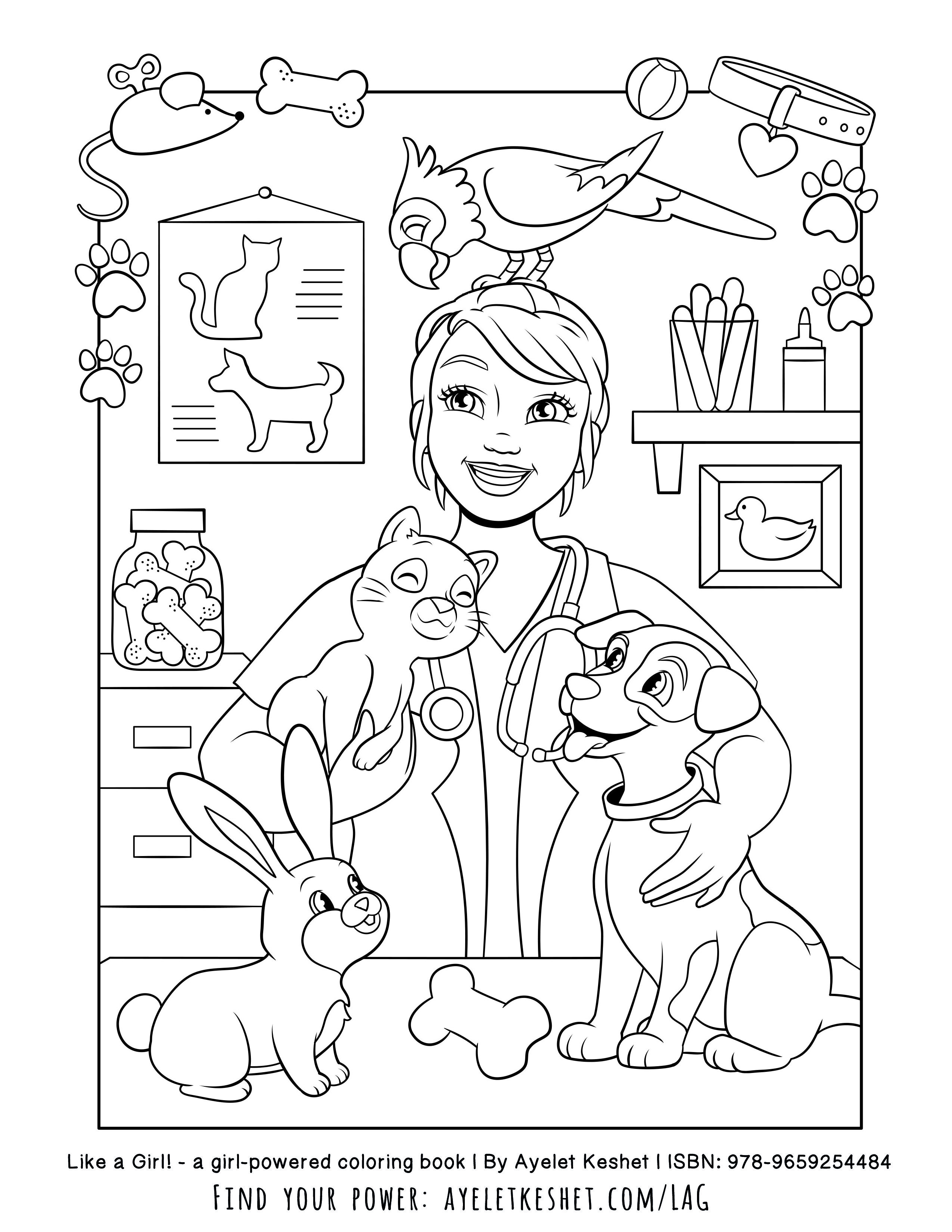 Girl Power Free Printables Of The Coloring Book Like A