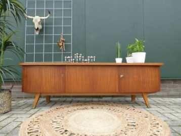 Dressoir 1.80 m vintage design lowboard retro tv meubel kast