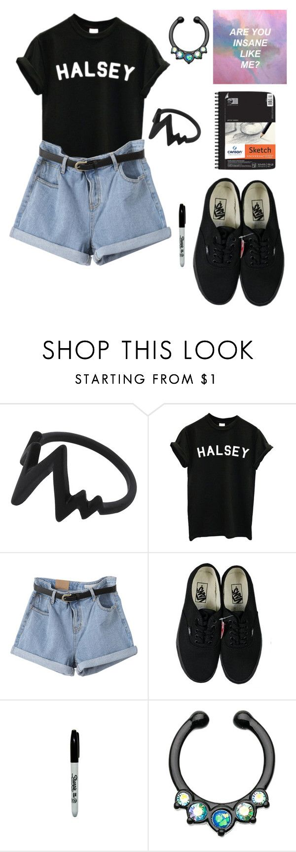 """""""(Are you insane like me?)"""" by coffeeismysoul ❤ liked on Polyvore featuring Vans and American Apparel"""