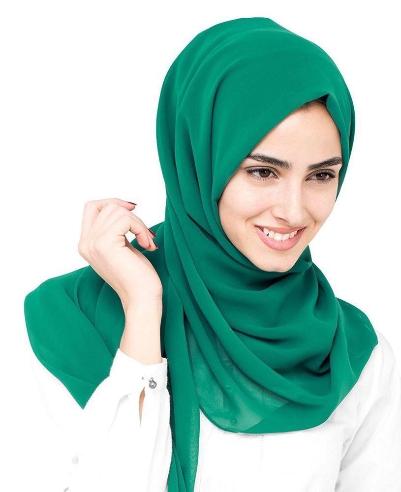 ae68075715f56 Women's Georgette Multiple Hijab Ladies Stole Head Wrap Headscarf Shawl  #Unbranded #Hijab #AllOccasion
