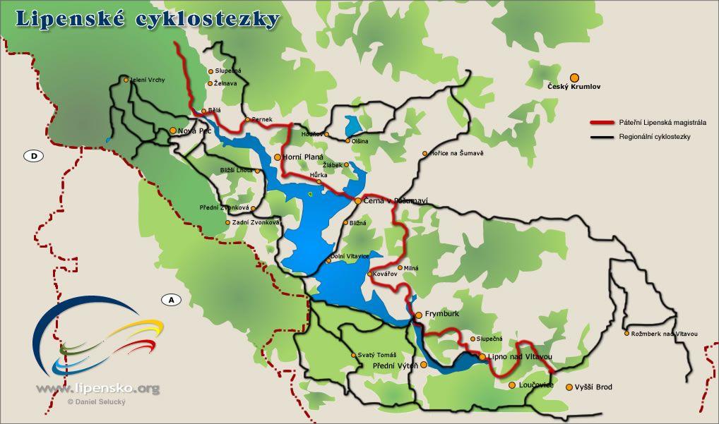 Lipenske Cyklostezky Jezera Mapa