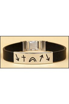 Witness Stainless Steel and Black Silicone Bracelet