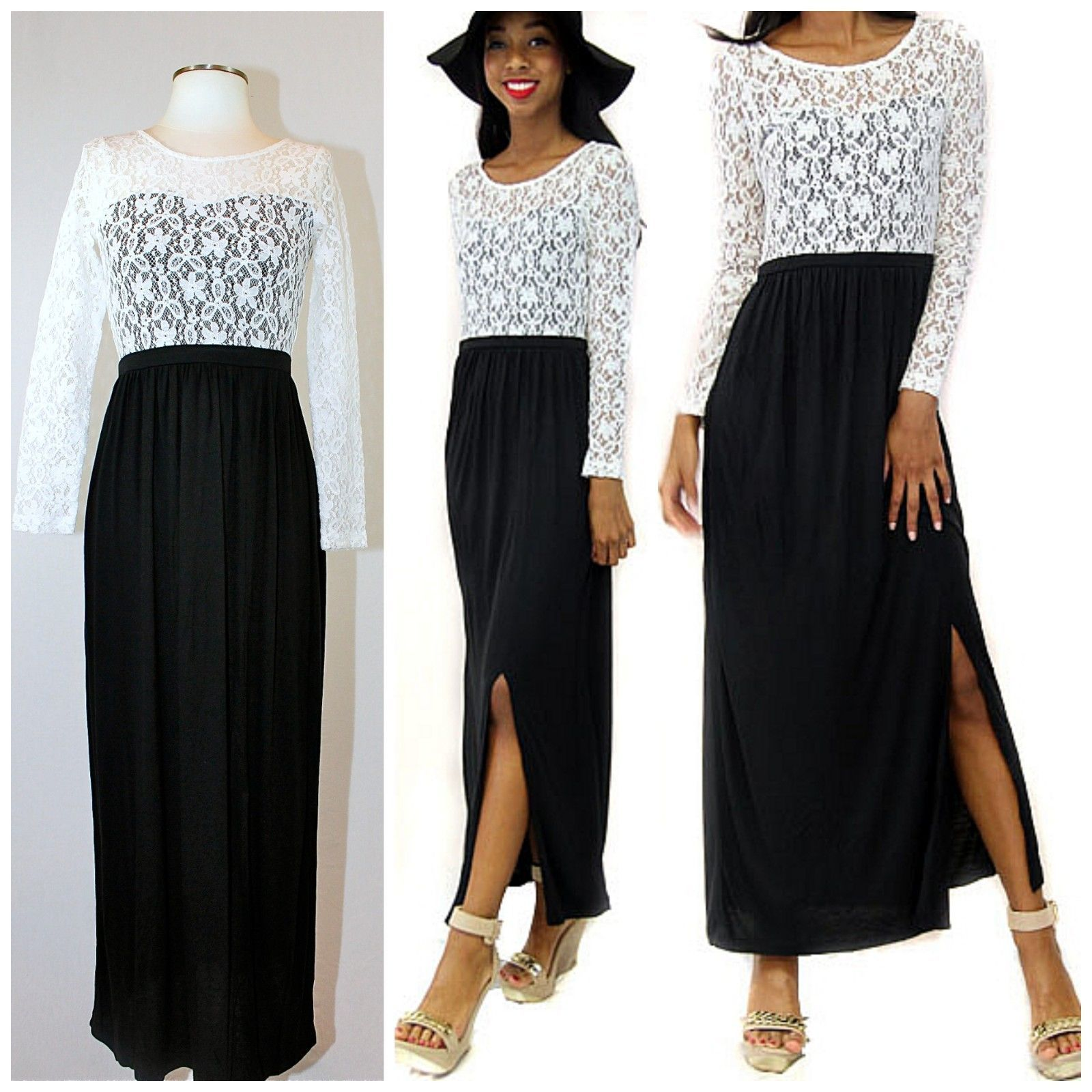 Maxi dress with sleeves ebay classifieds