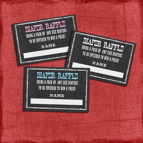 Printable Western BBQ Chalkboard Style Baby Shower Diaper Raffle Tickets,  Chalkboard Western BBQ Baby Shower Invite  DIY On Etsy, $5.00