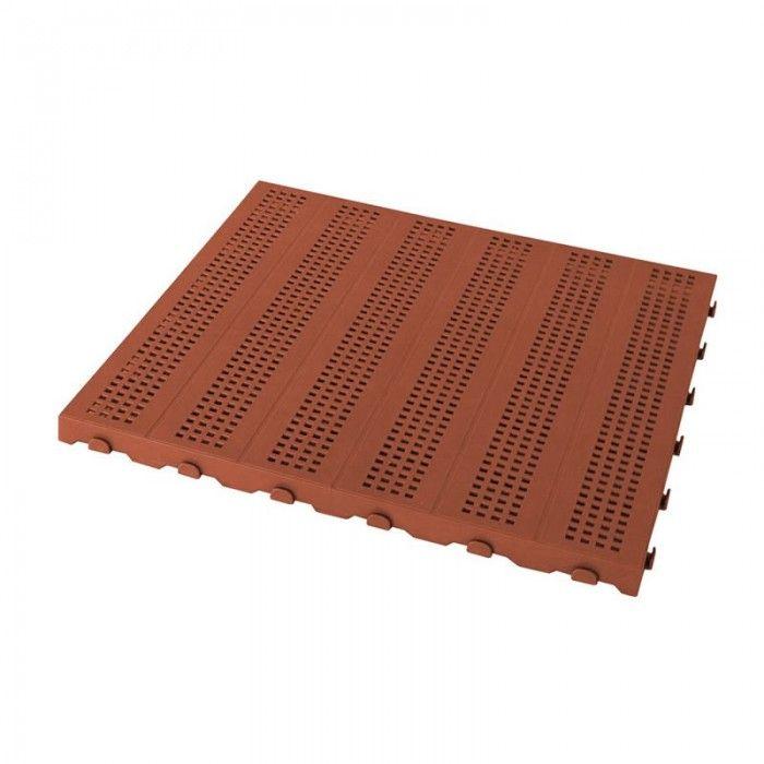 Pavimento Plastica Da Giardino.Piastrella 40x40 Forata Mattone Piastrelle Pavimenti E