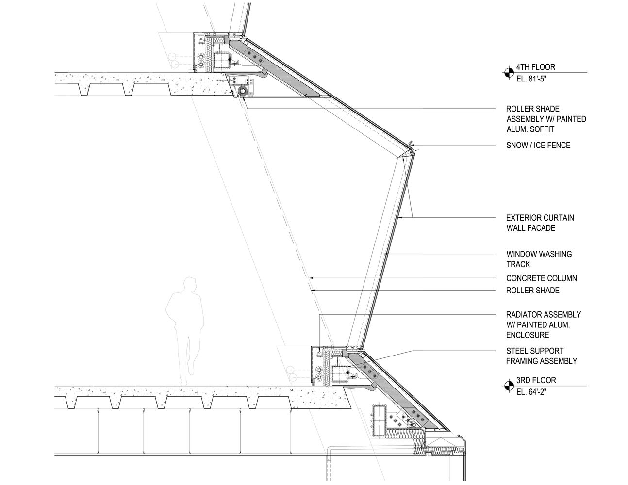 Curtain Wall Detail Bing Images Curtain Wall Detail Roof Detail Wall Section Detail