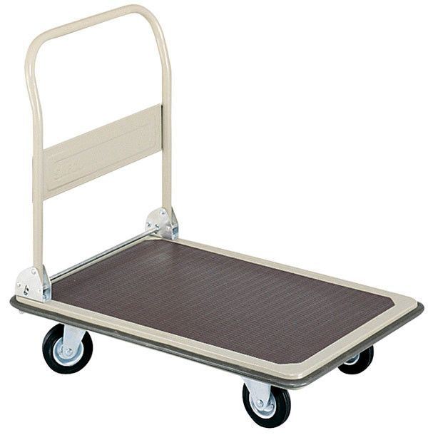 Safco Fold Away Platform Truck with Protective Bumper
