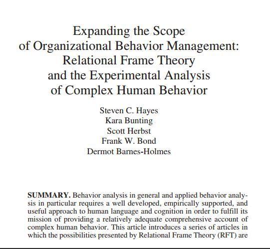 Free Pdf Expanding The Scope Of Organizational Behavior