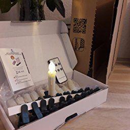 30stk Weinachten Led Kerzen Lichterkette Kabellos Weihnachtskerzen