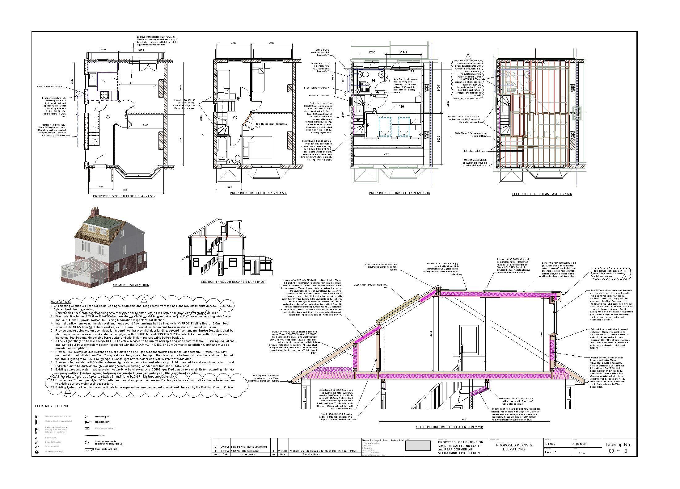 Raising The Roof On Detached House Google Search Loft Conversion Drawings Loft Conversion Plans Loft Conversion