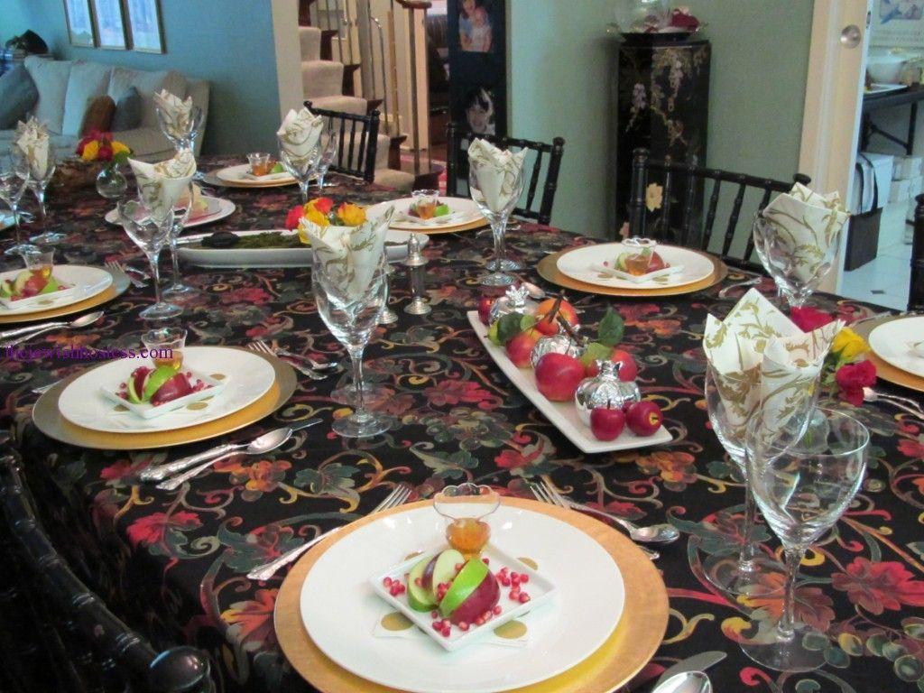 Holiday table setting ideas rosh hashanah table scapes holiday table setting ideas rosh hashanah kristyandbryce Images