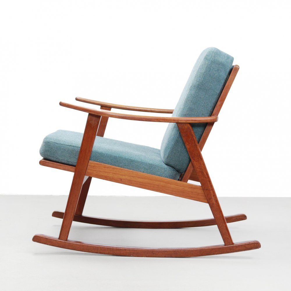 For sale: Danish design rocking chair in teak, 7s  Danish