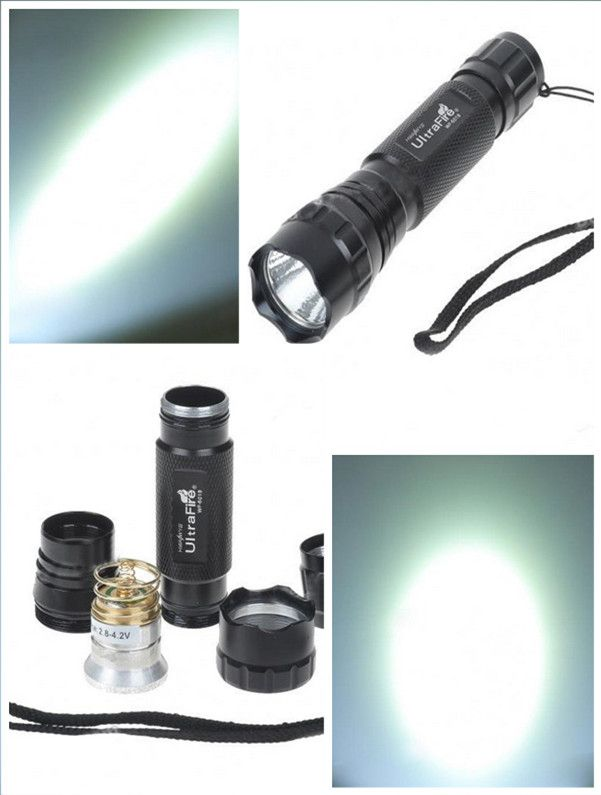 UltraFire 501B CREE Red light LED 1Mode 18650 Tactical Flashlight Charger Set