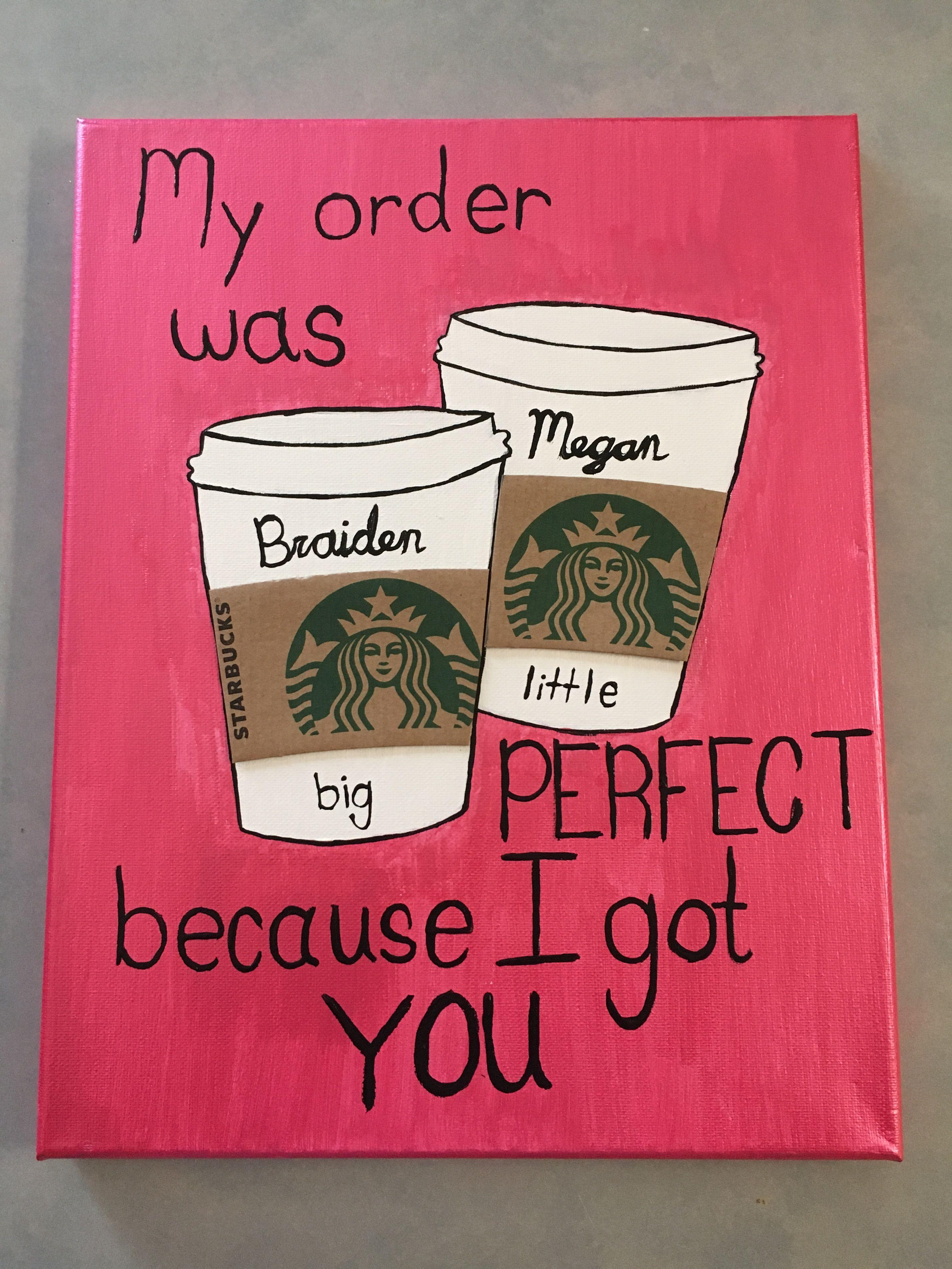 Sorority Big Little Coffee - Big Little Reveal Canvas #biglittlereveal