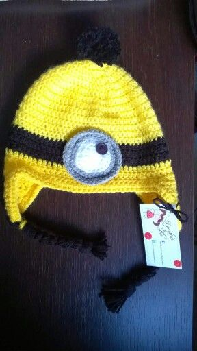 the best attitude f0992 856eb Crochet minion hat / cappello minion all'uncinetto | Crochet ...
