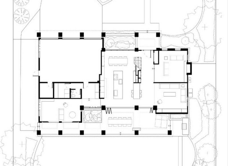 Contemporary Floor Plan Houzz Tour From Potential Tear Down To Family Friendly Contemporary Mimari Planlari Mimari