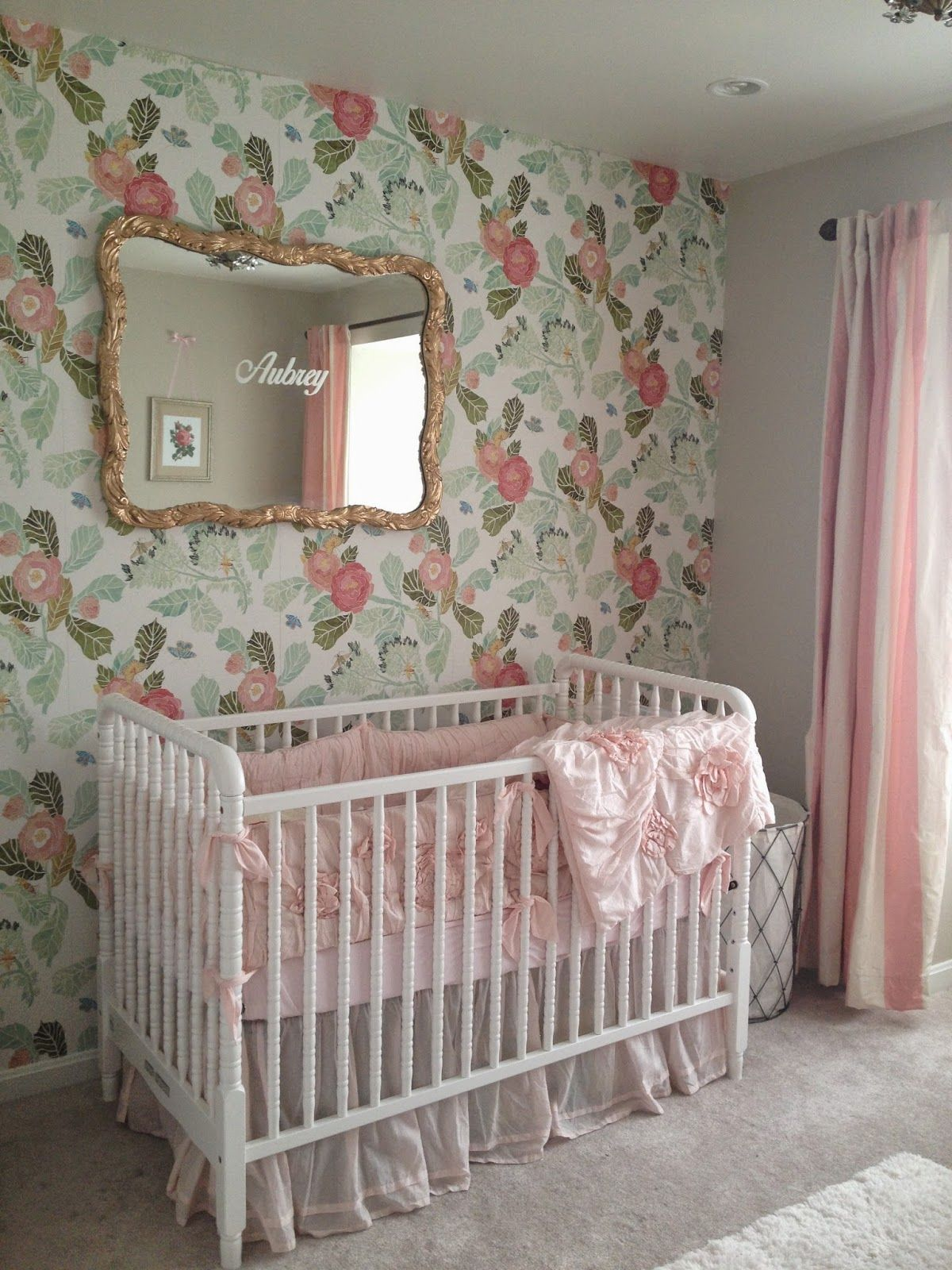 Best Finished Nursery Girl Nursery Pink Baby Room Decor 400 x 300