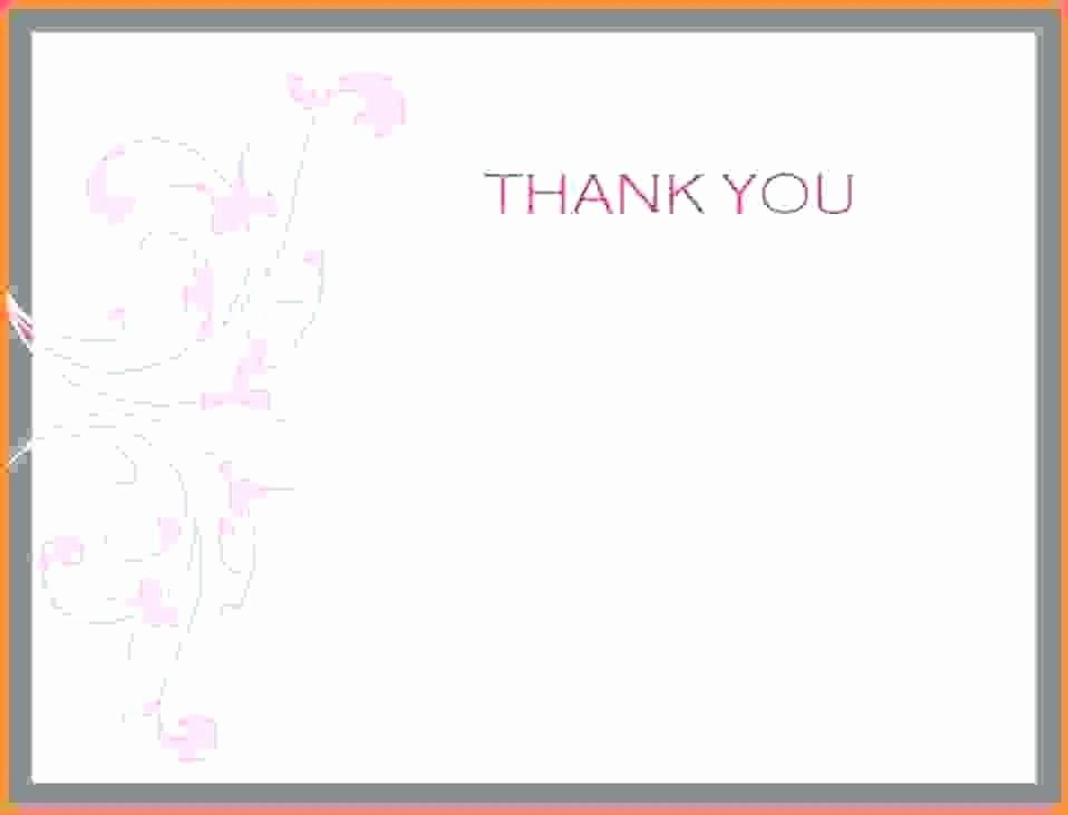 Template For Thank You Card Luxury Microsoft Thank You Card Template Note Word Messages Thank You Card Template Business Thank You Cards Thank You Card Wording