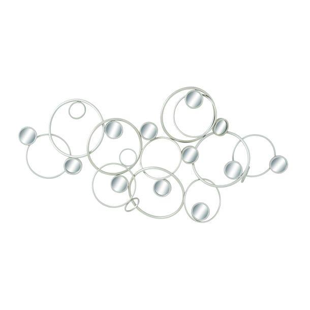 3D Circles and Mirrors | Metal Art | Wall Decor | Metal Decor | Wall ...