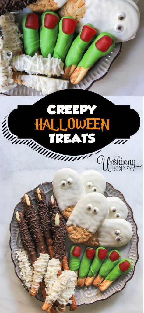 Creepy Halloween Party Treats - Unskinny Boppy Crafts  DIY~ Home