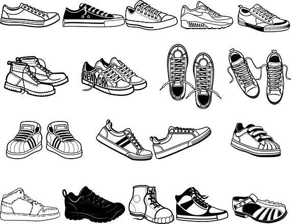 73afe63c2723 17 Shoes svg Bundle - Sneakers vector - Mens Shoes stencil - Shoes  Silhouette svg - Shoes clipart di