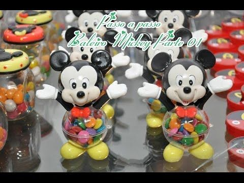 Passo A Passo Baleiro Mickey Em Biscuit Parte1 Mickey Biscuit