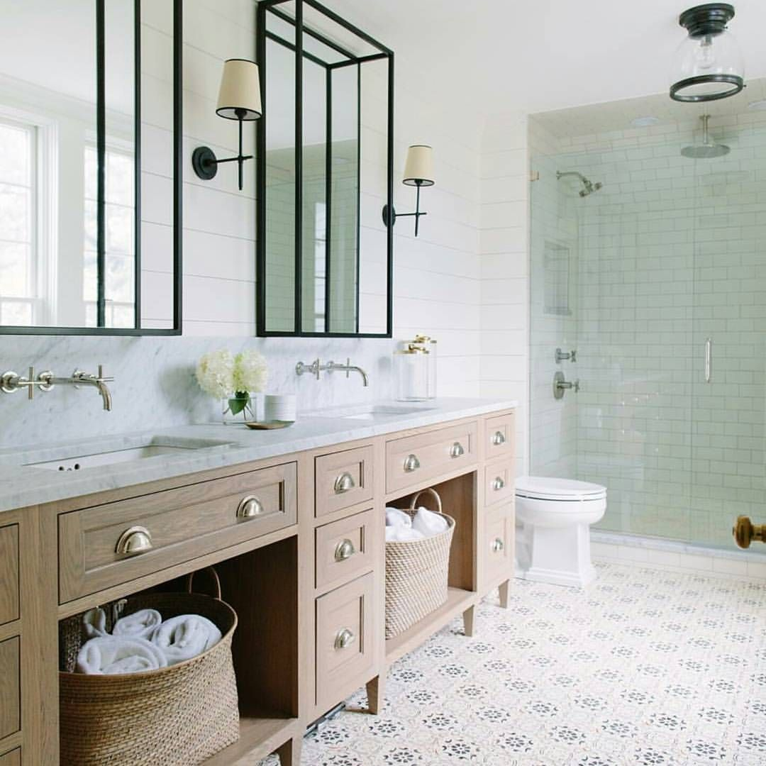 Classic Modern Bathroom House Bathroom Designs Patterned Bathroom Tiles Beach House Bathroom