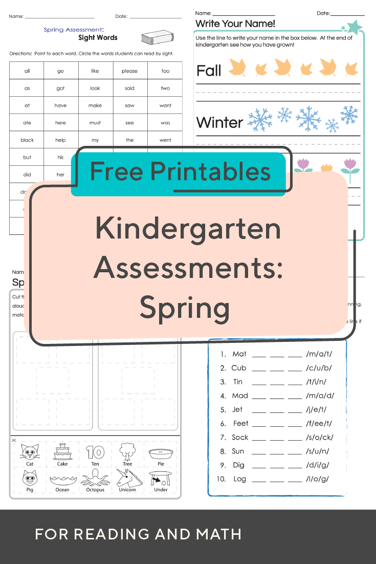 Evaluate Student Skills With These Kindergarten Worksheets For Spring Math And Ela Assessment Kindergarten Assessment Student Skills Kindergarten Worksheets [ 1102 x 735 Pixel ]