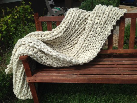Wool Blanket Knit Blanket Chunky Knit Blanket Blankets And