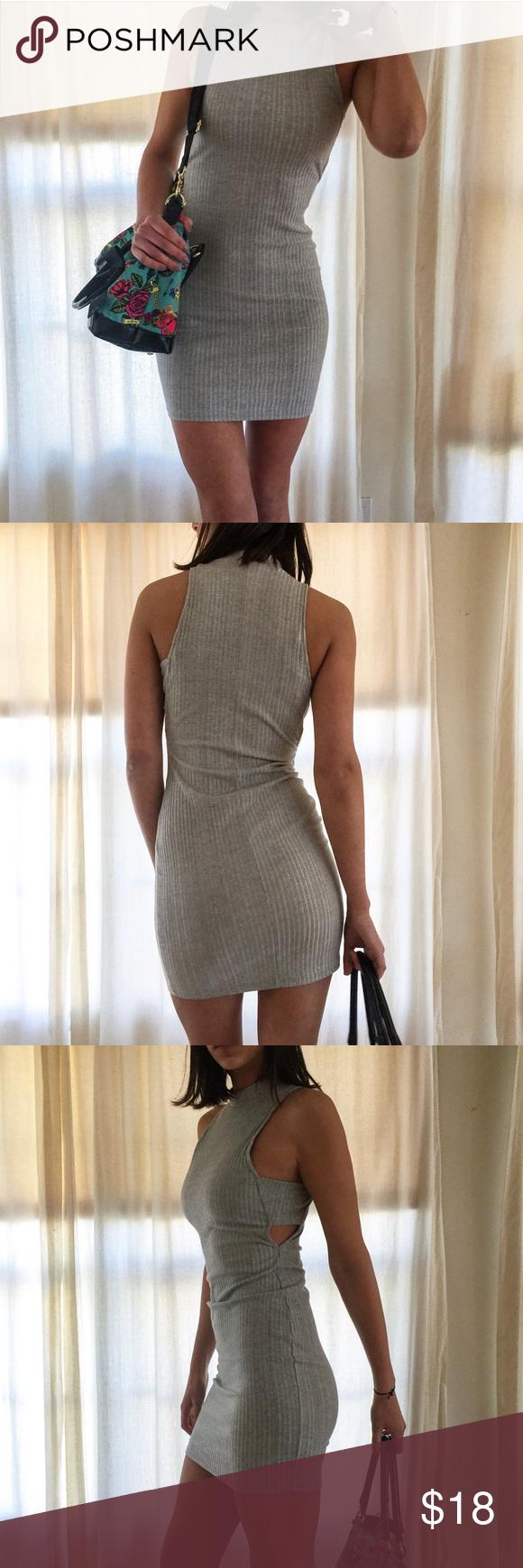 Grey bodycon dress as seen on tv