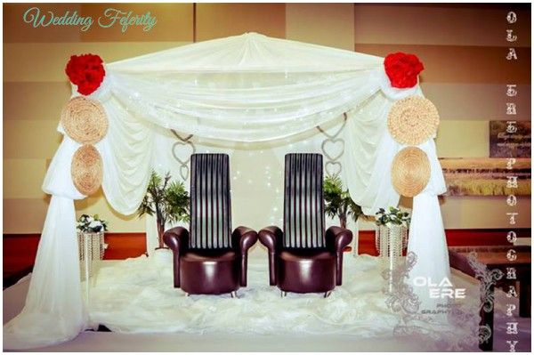 nigerian wedding decor ideas photos of wedding decoration inspiration from real white and traditional weddings - Traditional Canopy 2016