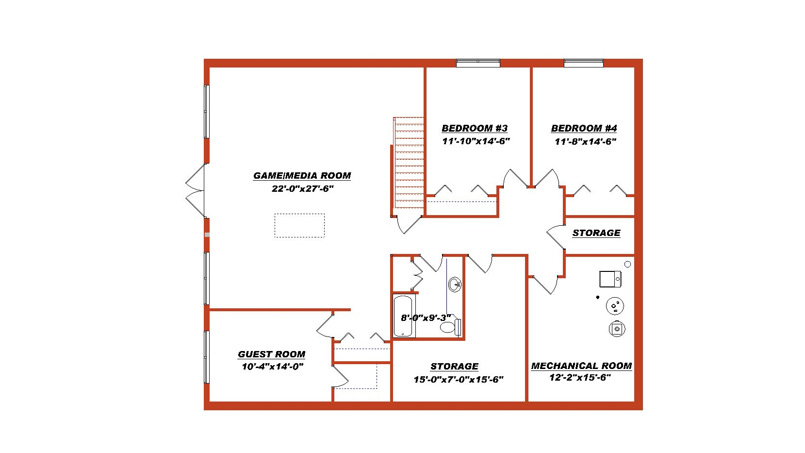 1 1 2 Storey House Plan With Walkout 2010517 By E Designs Basement Floor Plans Floor Plans Floor Plans Ranch