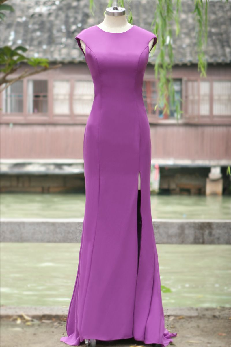 Free shipping buy best new arrival aline oneck split front