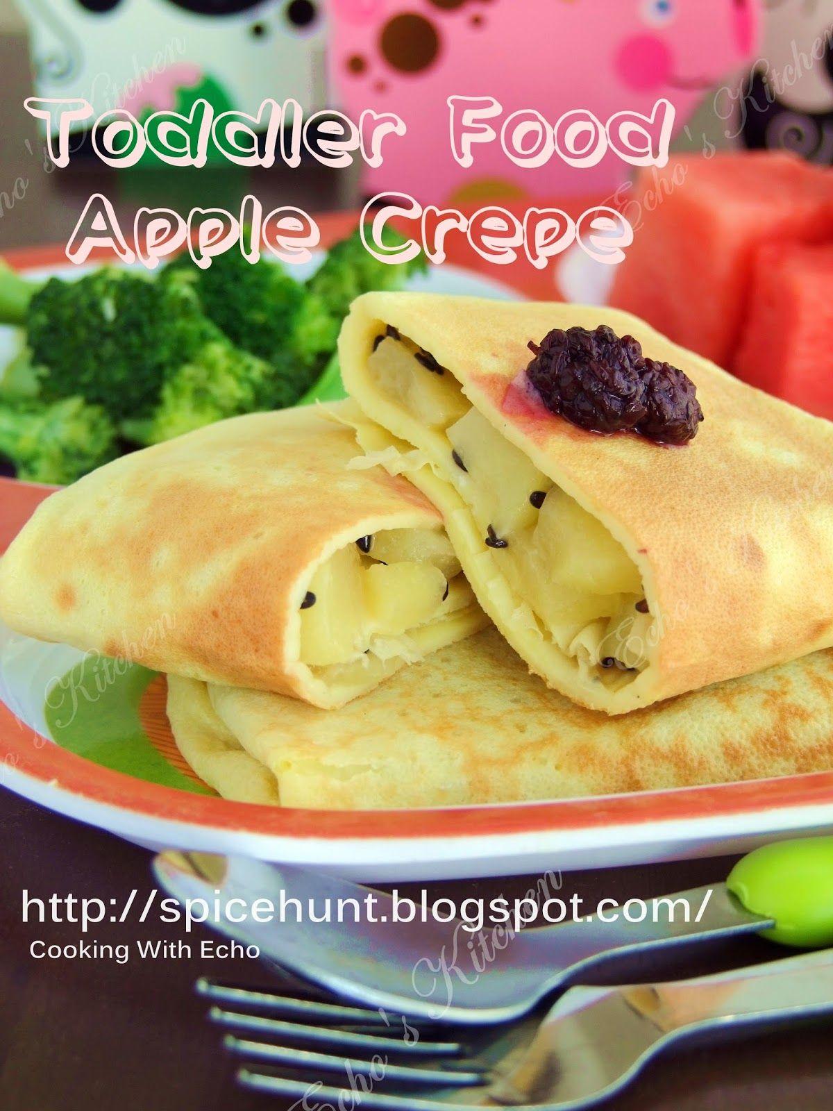 Toddler Food -- Apple Crepe