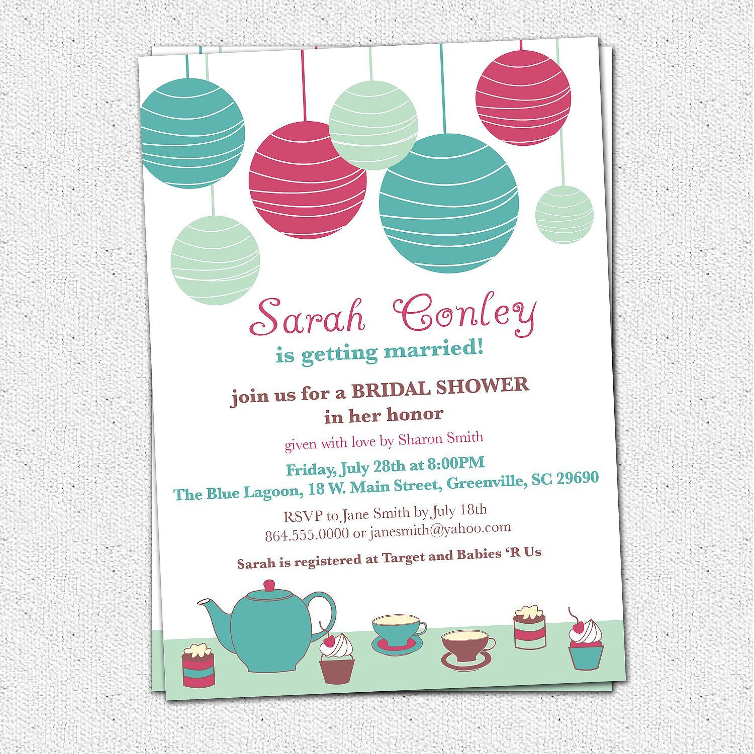 Bridal Shower Invitation Wording Gift Cards Only