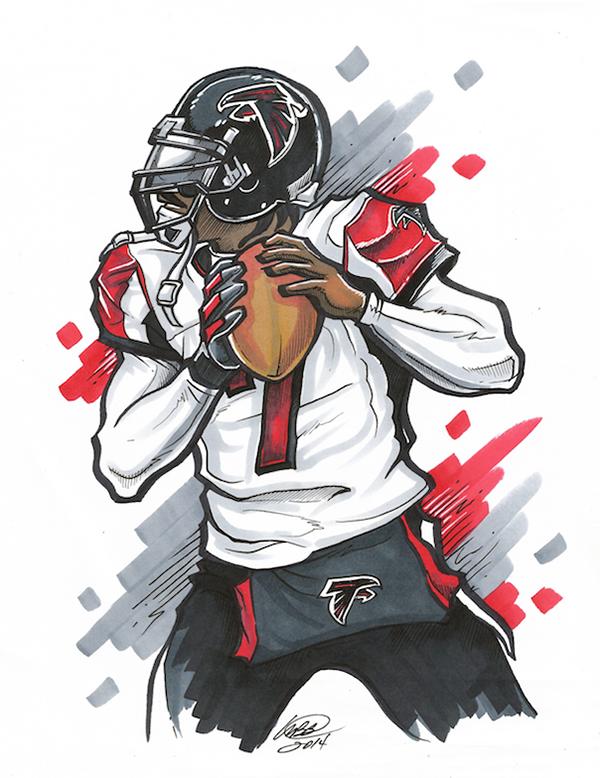 Matthew Brian Bowens On Behance In 2020 Football Player Drawing Nfl Football Art Nfl Football Wallpaper