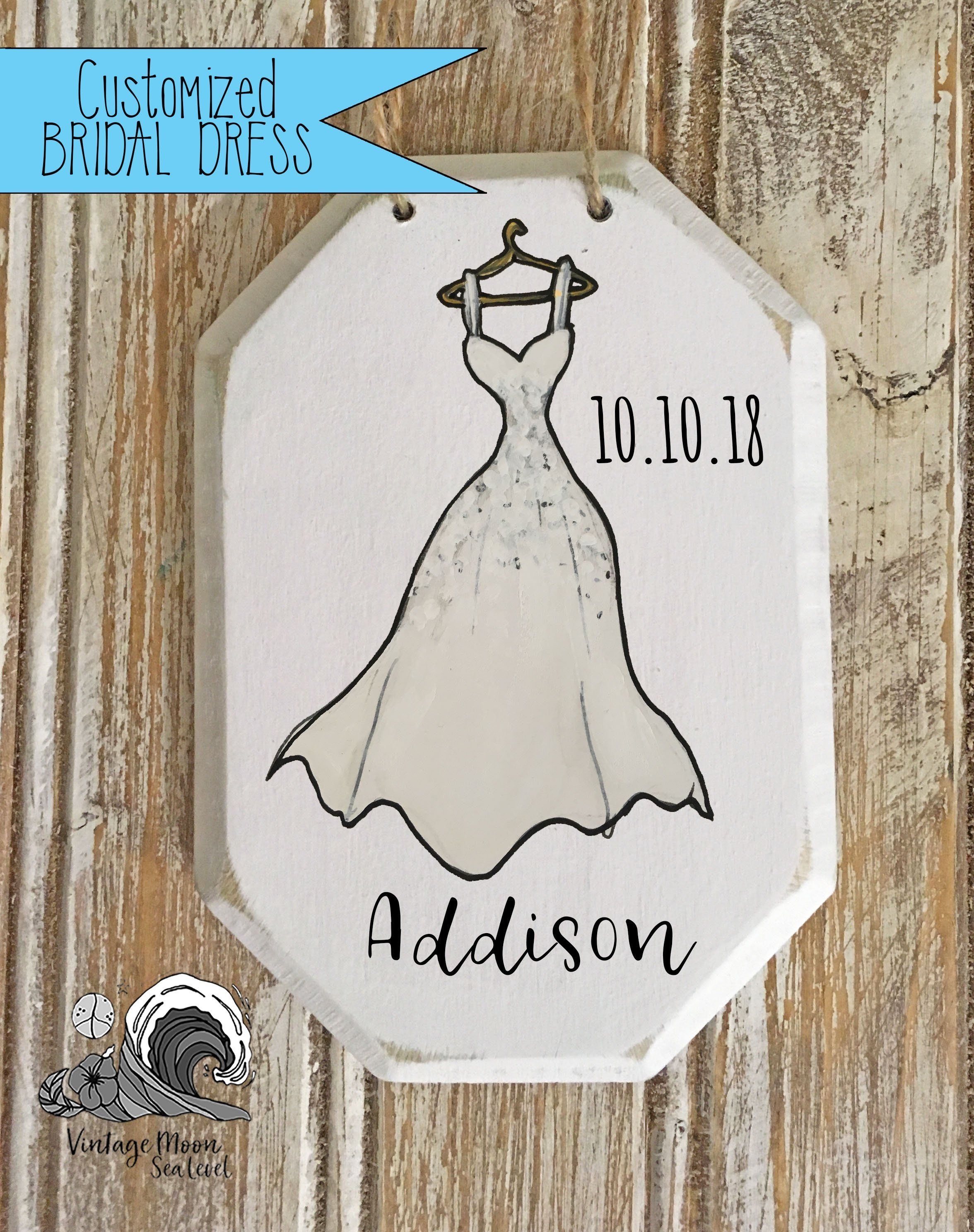 Personalized bride dress ornament christmas ornaments engagement