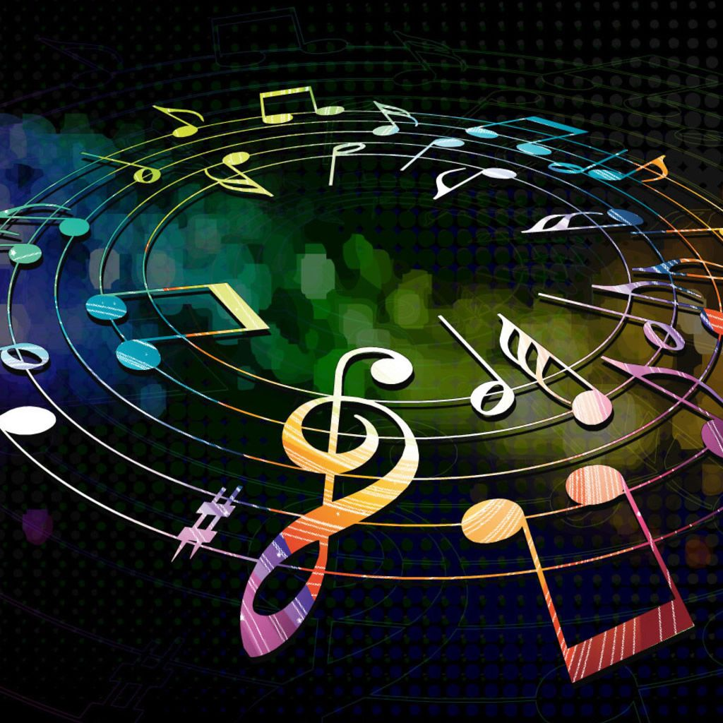 Colorful Music Notes Black Background Pictures 5 Hd Wallpapers