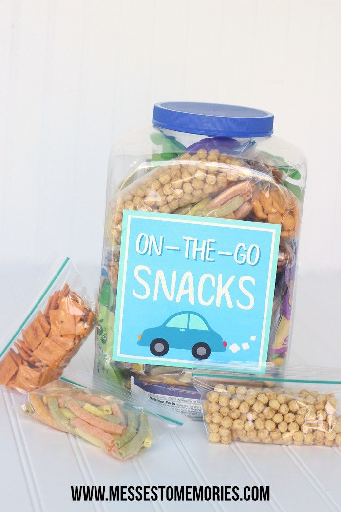 Make life easy with pre-prepped On-the-Go Snacks!