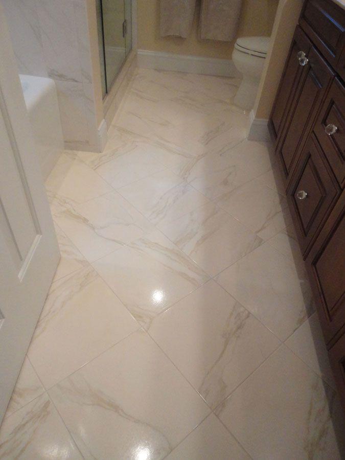 Porcelain tile floor in dining room | Diningroom floor | Pinterest ...